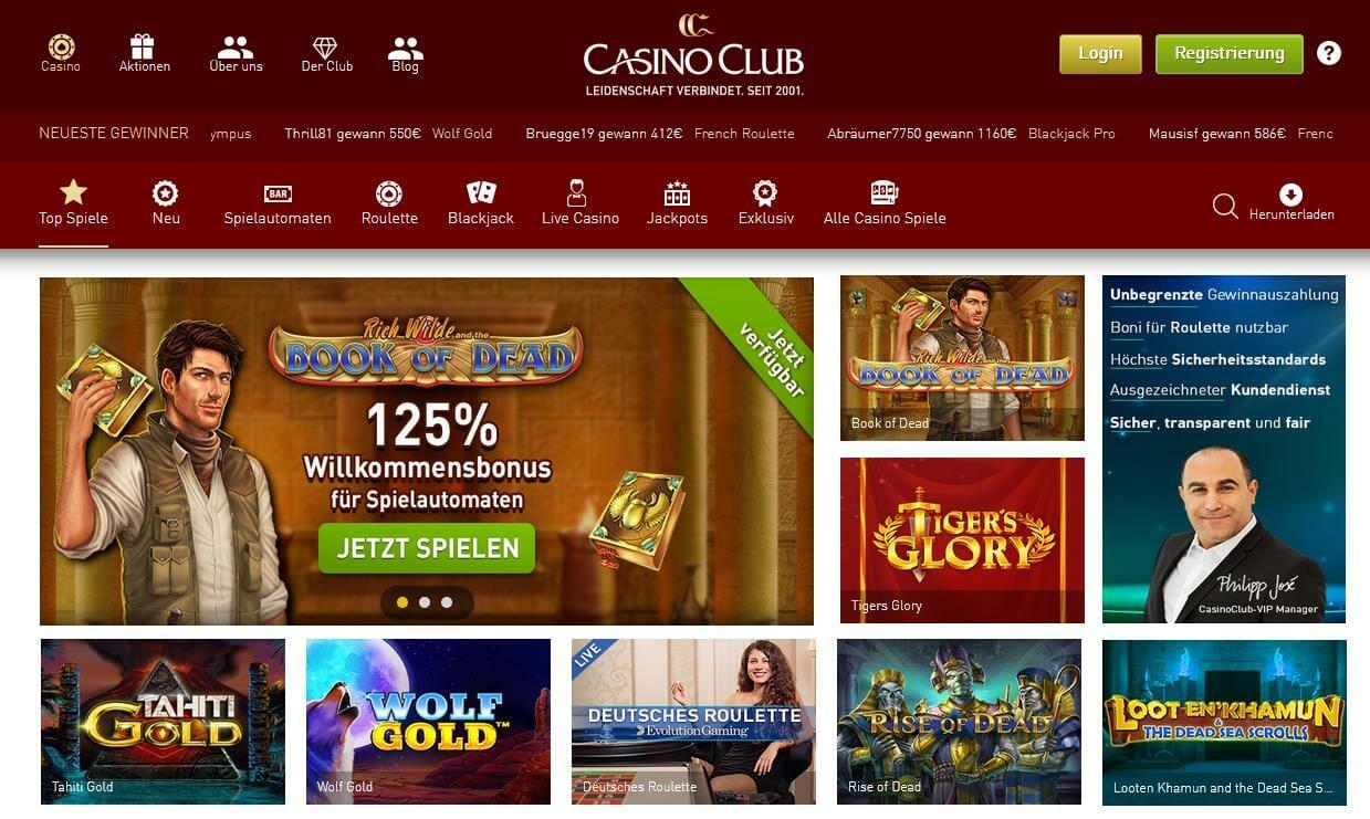 Casino Club Startseite