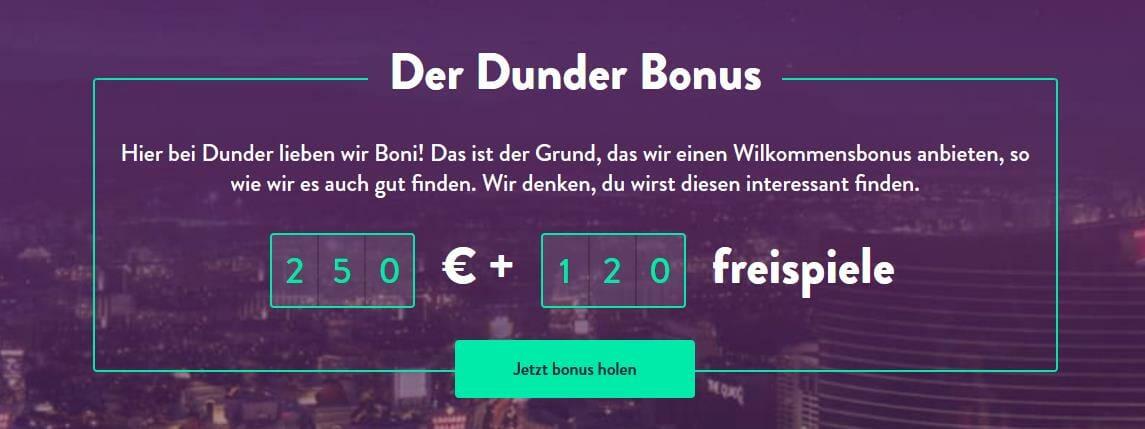 Dunder Bonus neu