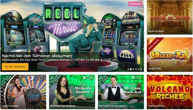 Mr. Green Spielangebot